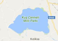 Manyas Kuş Gölü Uydu Görüntüsü ve Haritası