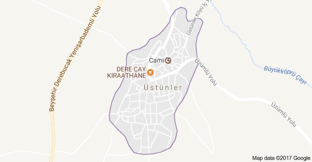 Beyşehir Üstünler Uydu Görüntüsü