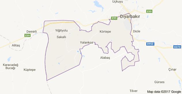 Bağlar Uydu Görüntüsü Uydu Haritası Diyarbakır