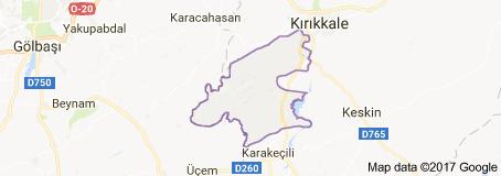 Kırıkkale Bahşılı İlçesi Uydu Görüntüsü ve Haritası
