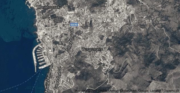 Turgutreis Uydu Görüntüsü Uydu Haritası Bodrum