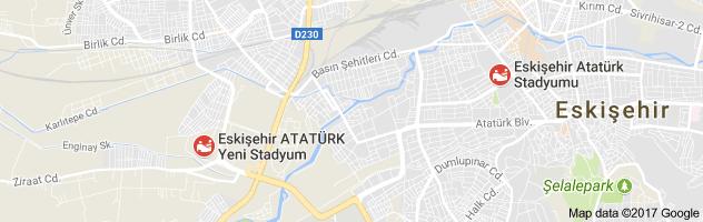 Eskişehir Yeni Atatürk Stadyumu Uydu Görüntüsü ve Haritası