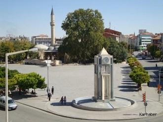 Karaman Aktekke Meydanı Uydu Görüntüsü ve Haritası
