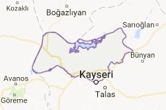 Kayseri Kocasinan İlçesi Uydu Görüntüsü Uydu Haritası
