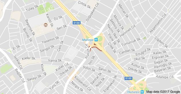 Maltepe Köprüsü Kavşağı Uydu Görüntüsü Uydu Haritası