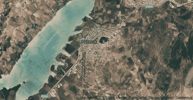 Pazarcık Uydu Görüntüsü Uydu Haritası Kahramanmaraş