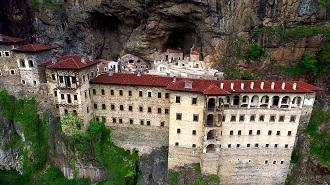 Sümela Manastırı Havadan Kamera İzle