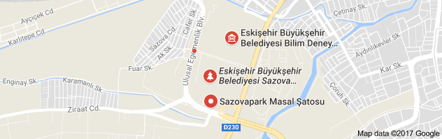 Sazova Parkı Uydu Görüntüsü ve Haritası Eskişehir