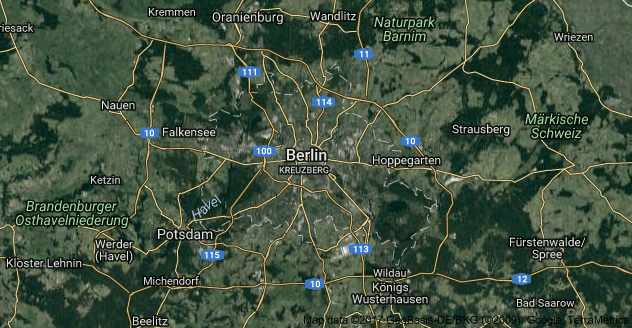 Berlin Uydu Görüntüsü Uydu Haritası Almanya