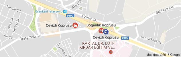 Cevizli Köprüsü Uydu Görüntüsü Uydu Haritası Maltepe