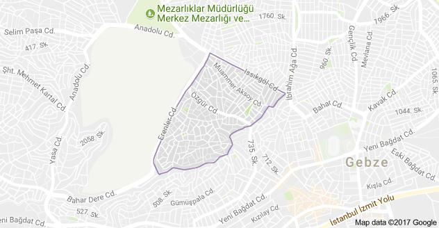 Gebze Mevlana Mahallesi Uydu Görüntüsü Uydu Haritası