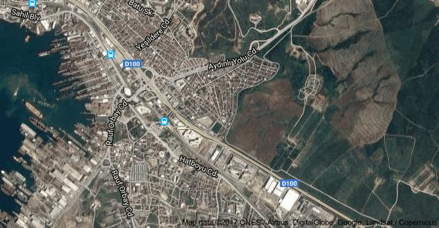 İçmeler Mahallesi Uydu Görüntüsü Uydu Haritası Tuzla