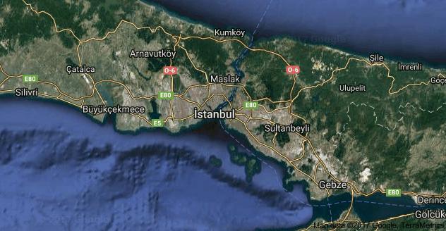 Uzaydan İstanbul Uydu Görüntüsü Uydu Haritası izle