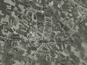 Niğde Çiftlik Uydu Görüntüsü Haritası