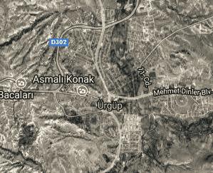 Nevşehir Ürgüp Uydu Görüntüsü Haritası
