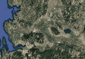 Manisa Şehzadeler Uydu Görüntüsü Haritası