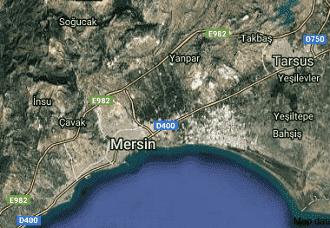 Mersin Akdeniz Uydu Görüntüsü Haritası