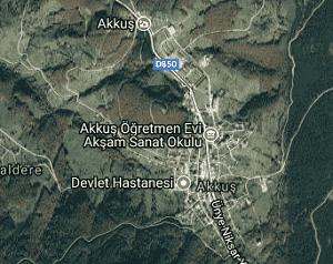 Ordu Akkuş Uydu Görüntüsü Haritası