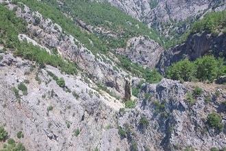 Alanya Sapadere Kanyonu Havadan Kamera İzle