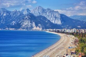 Antalya Konyaaltı Sahili Havadan Kamera İzle