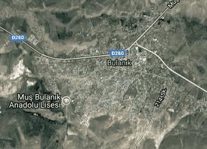 Muş Bulanık Uydu Görüntüsü Haritası