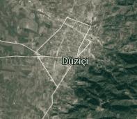 Osmaniye Düziçi Uydu Görüntüsü Haritası