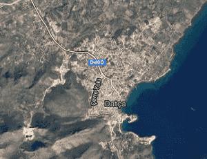 Muğla Datça Uydu Görüntüsü Haritası