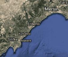Mersin Erdemli Uydu Görüntüsü Haritası