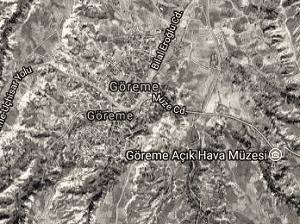 Nevşehir Göreme Uydu Görüntüsü Haritası