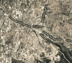 Mersin Gülnar Uydu Görüntüsü Haritası