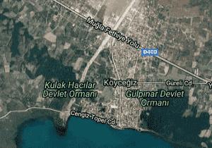 Muğla Köyceğiz Uydu Görüntüsü Haritası