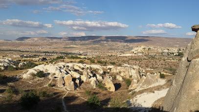 Nevşehir Kapadokya İkiz Peri Bacaları Uydu Görüntüsü Haritası