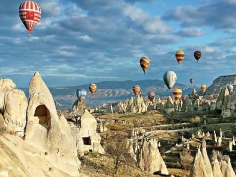 Nevşehir Kapadokya Peri Bacaları Uydu Görüntüsü