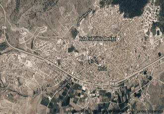 Manisa Kula Uydu Görüntüsü Haritası