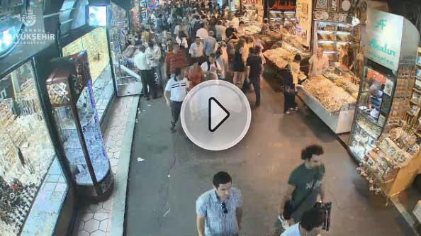 İstanbul Mısır Çarşısı canlı mobese izle
