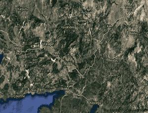 Muğla Menteşe Uydu Görüntüsü Haritası