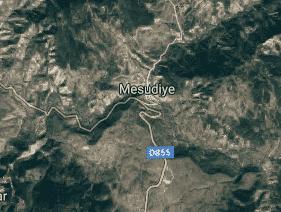 Ordu Mesudiye Uydu Görüntüsü Haritası