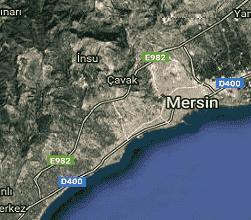Mersin Mezitli Uydu Görüntüsü Haritası