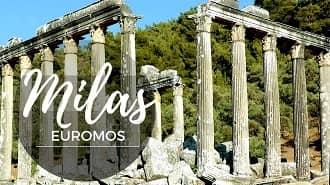 Milas Euromos Antik Kenti Havadan Kamera İzle