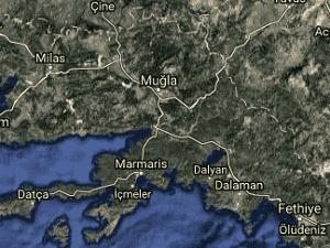 Muğla Uydu Görüntüsü Haritası