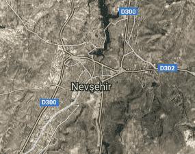 Nevşehir Uydu Görüntüsü Haritası