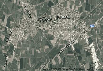 Manisa Saruhanlı Uydu Görüntüsü Haritası