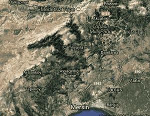 Mersin Toroslar Uydu Görüntüsü Haritası