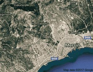 Mersin Yenişehir Uydu Görüntüsü Haritası