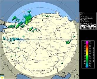 Ankara Meteoroloji Radar Görüntüsü