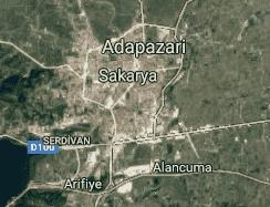 Sakarya Uydu Görüntüsü Uydu Haritası