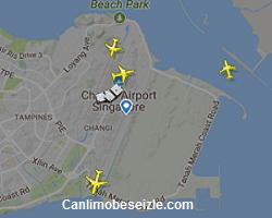 Singapur Changi Havalimanı Canlı Uçuş Uçak Takibi