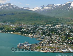 İzlanda Akureyri Kasabası canli izle