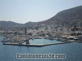 Paros Adası Parikia limanı canli izle