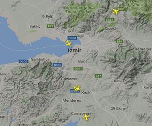 İzmir Adnan Menderes Havalimanı Canlı Uçuş Takip